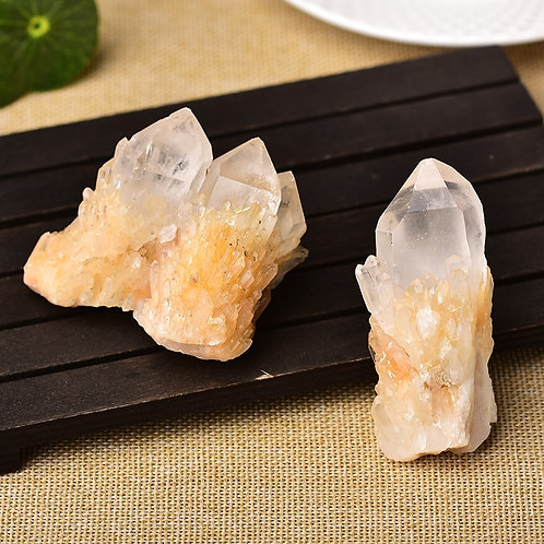 Natural Raw Quartz White Clear Crystal Cluster Healing Stones