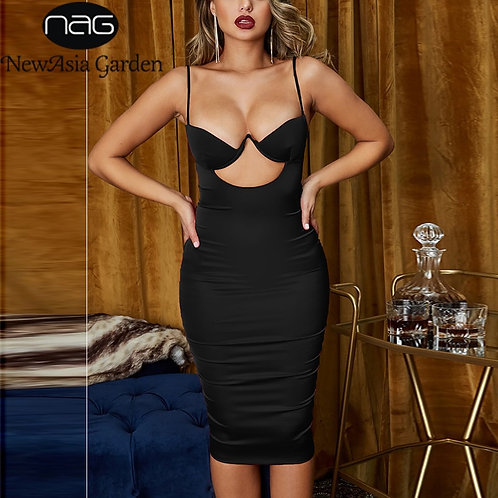Chest Hollow Out Sexy Dresses Women Summer
