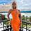 Thumbnail: High Quality Celebrity Orange One Shoulder Bodycon Rayon