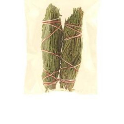 Smudging Herbs - Cedar Smudge Stick - 2 Mini Bundles