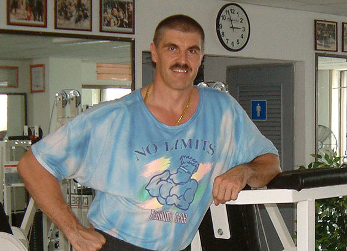 Uncle Chris at Ultimate Fitness,Nov. 200