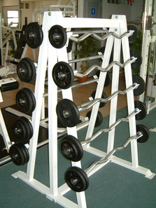 Fix-Weight Straight Bar/Ez-Bar Set with storage rack
