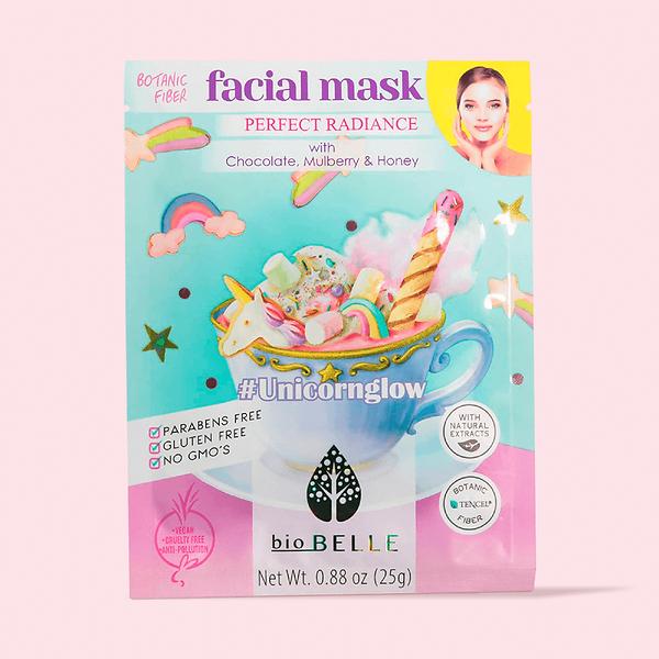 BioBelle unicorn glow sheet mask + sheet