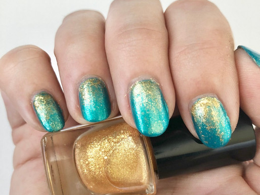DIY Ombre Glitter Mermaid Manicure