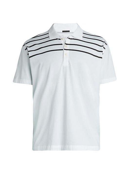 ATM Striped Jersey Polo