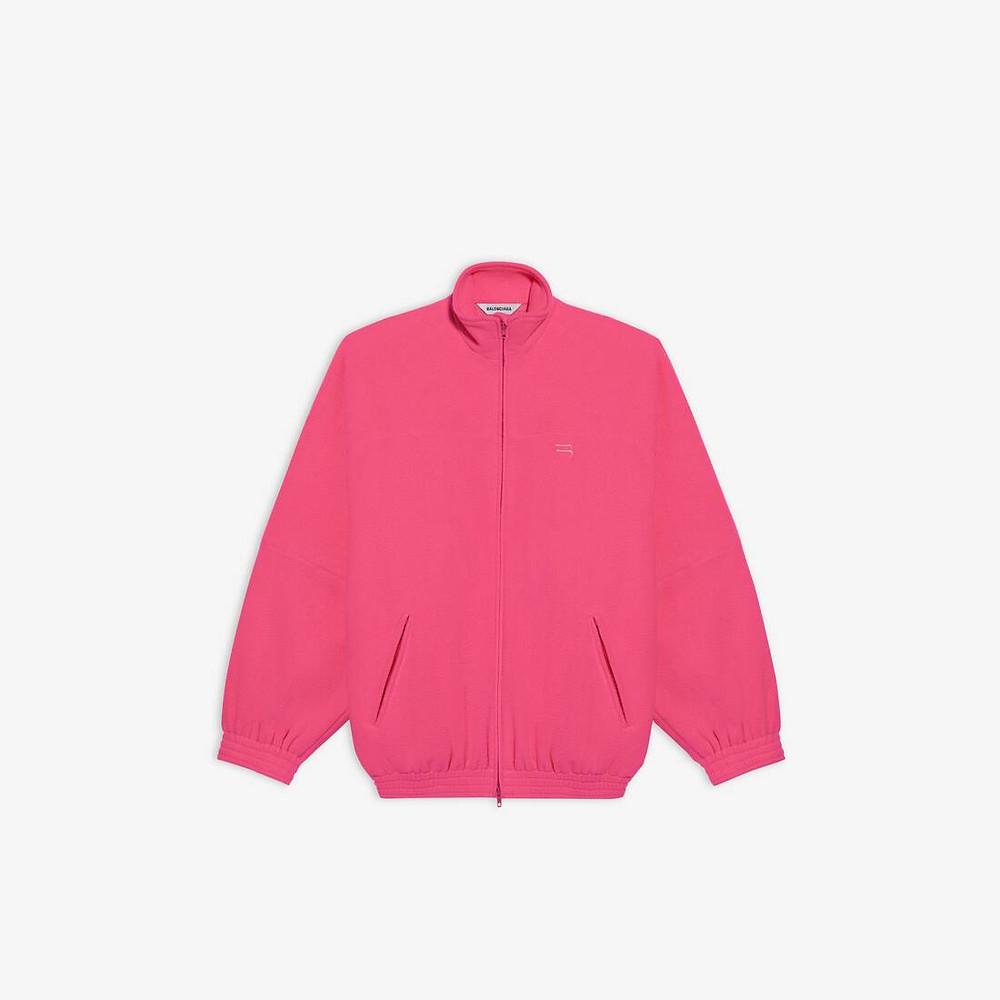 Neon Pink Balenciaga Track Suit Jacket