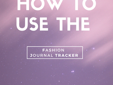 Free 5-Sheet Printable: The Fashion Journal Tracker