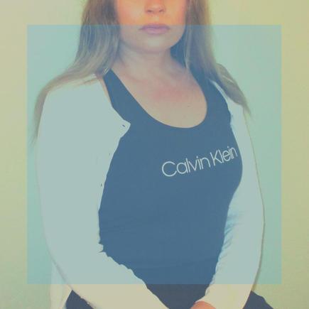 Cotton/lycra top from Calvin Klein