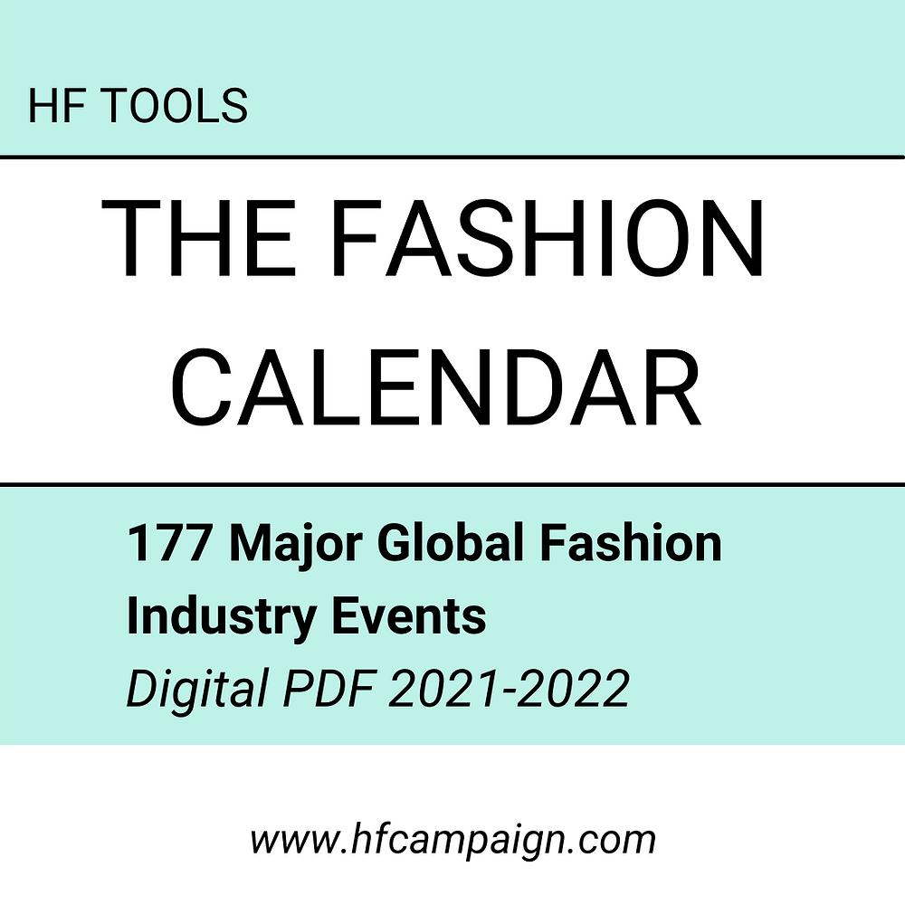 The fashion calendar 177 major global fashion events
