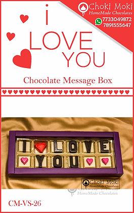 Chocolate Message Box
