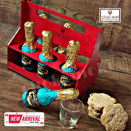 Chocolate Bottle with Crate