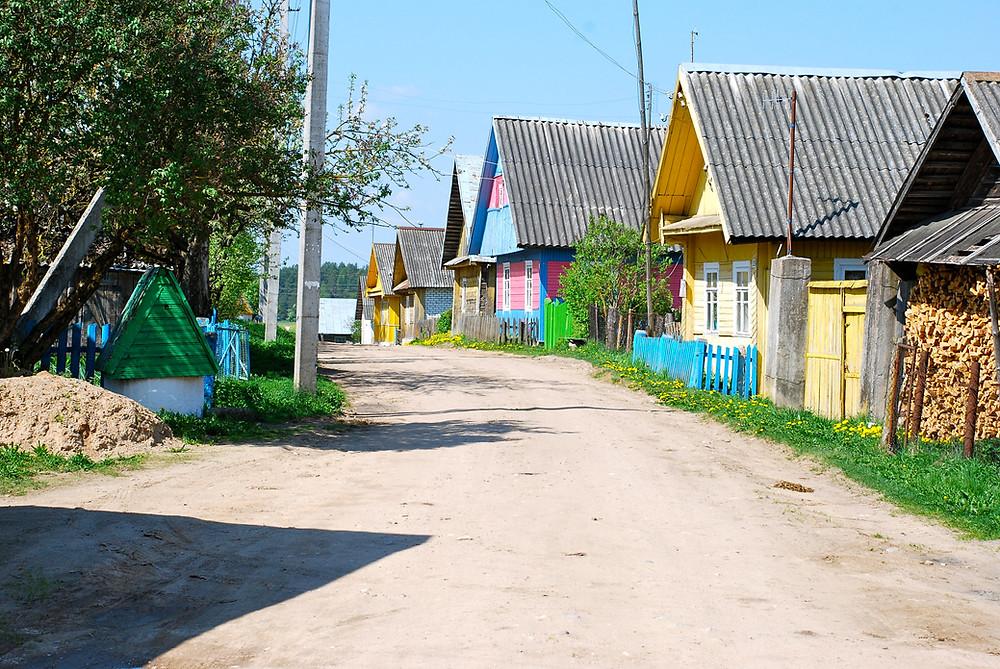 Kaimas vakarų Baltarusijoje. R. Kamuntavičiaus nuotrauka