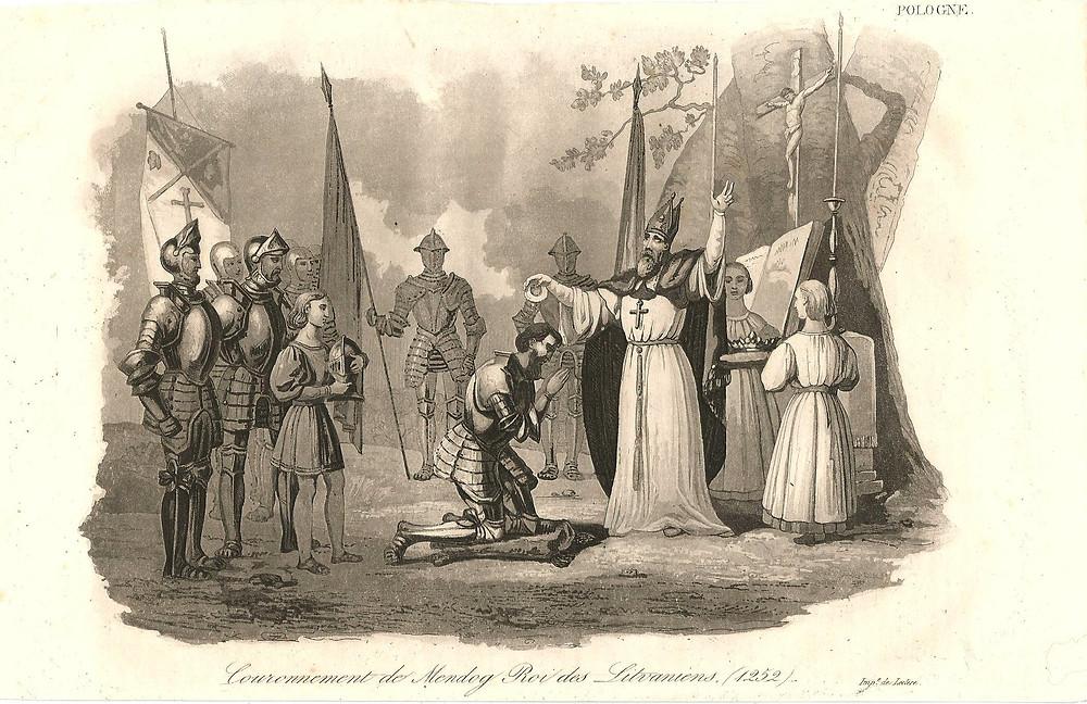Mindaugo karūnacija. XIX a.