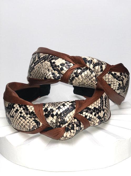 Bronze Snakeskin Headband