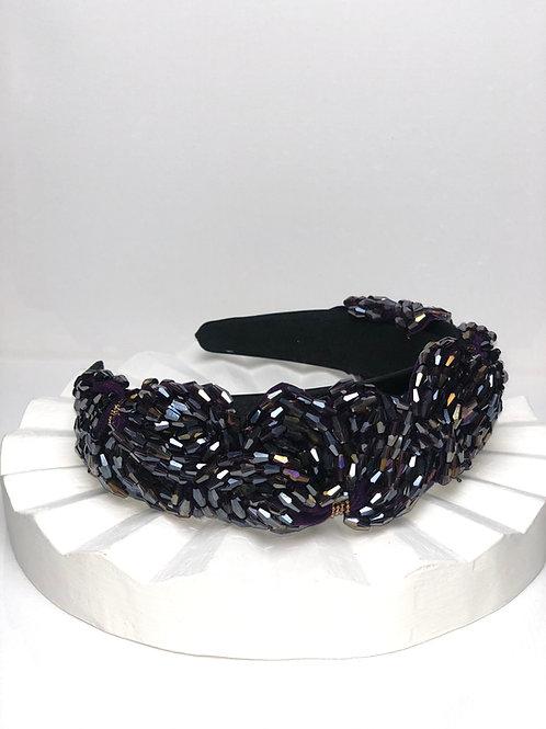 Crystal Black Bling Headband