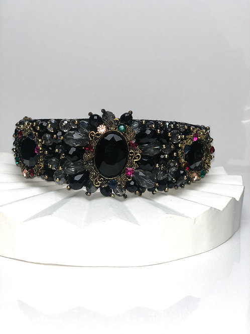 Black and Pink Bling Headband