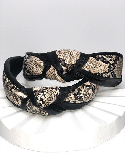 Black Snakeskin Headband