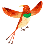 カラフルな鳥