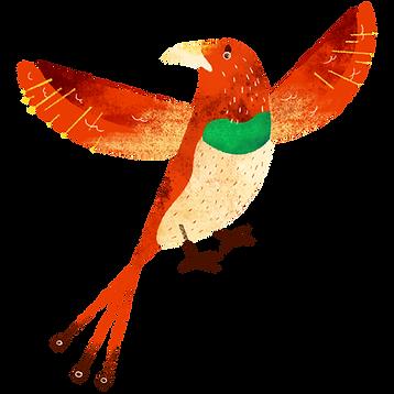 Farverige Bird