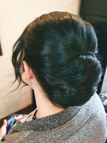 french twist bridesmaid style