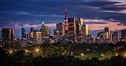 Toronto Skyline From Riverdale Park East