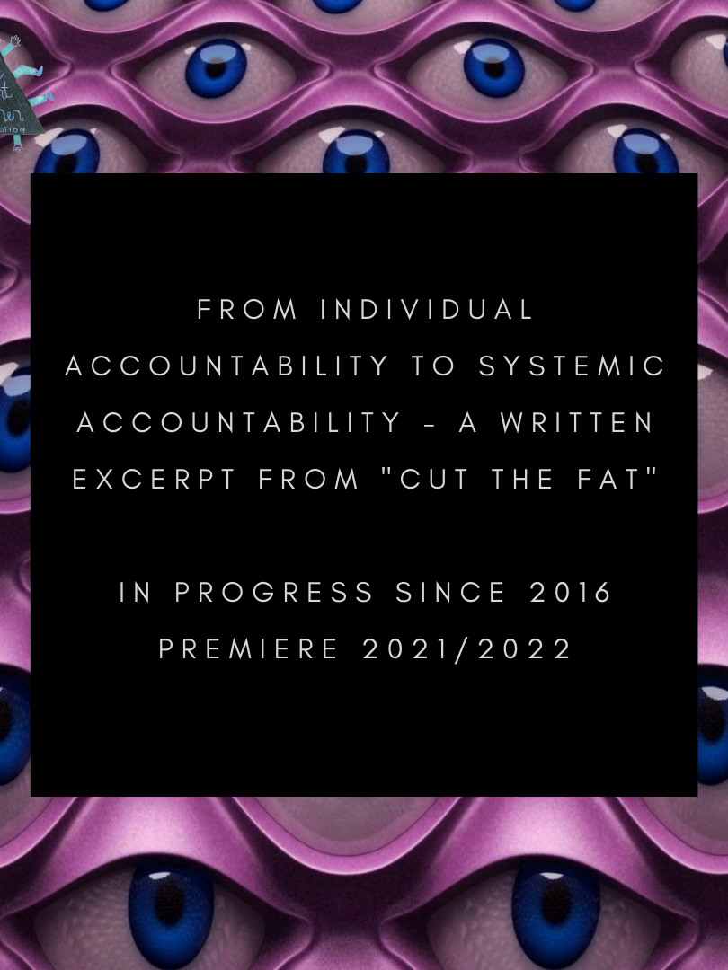 FROM INDIVIDUAL ACCOUNTABILITY TO SYSTEMIC ACCOUNTABILITY