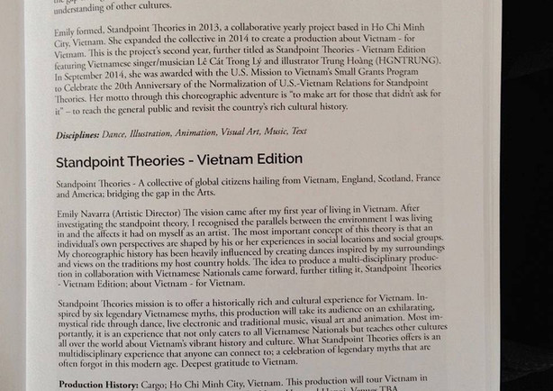 CONTEMPORARY PERFORMANCE ALMANAC 2015 - STANDPOINT THEORIES: LEGENDS OF VIETNAM