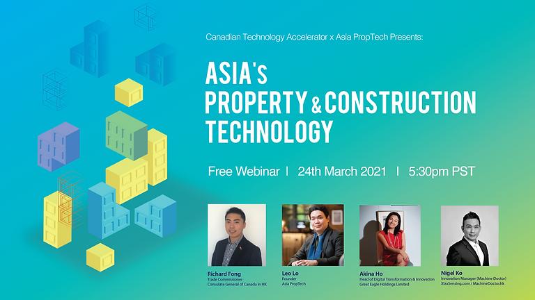 Asia PropTech & ConTech webinar