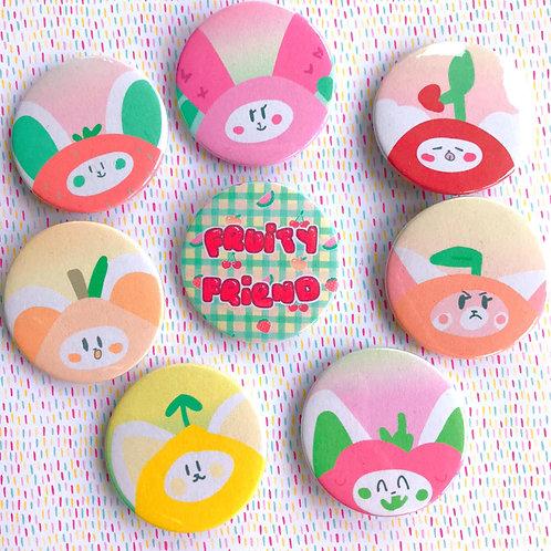 Fruity Friends Badge Set