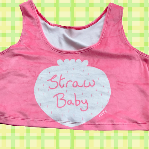 Strawbaby Velvet Crop Top