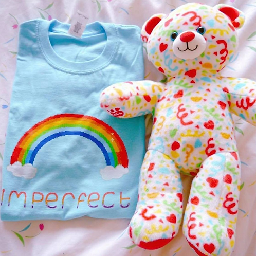 Imperfect/I'm Perfect Tee Light Blue