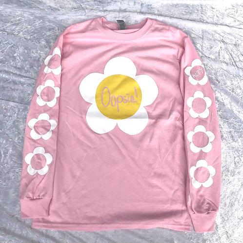 Oopsie Daisy! Long Sleeve Tee Pink