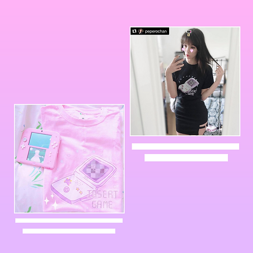 Insert Game Tee Pink and Black