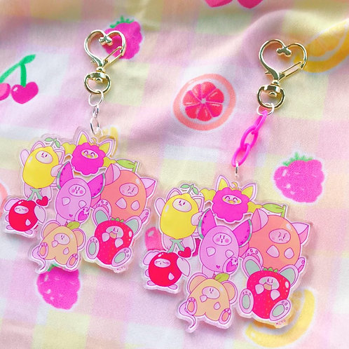 Fruity Friends Chunky Keyrings!
