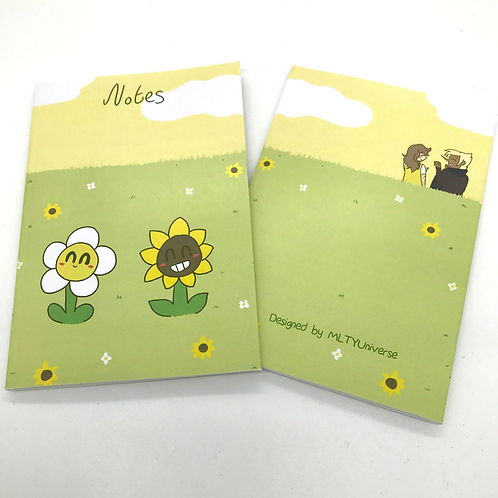 The Boy in Yellow Daisy and Sunflower A6 Notebook