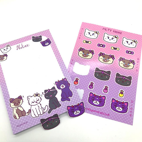 MLTY Kitties! Stationary Set