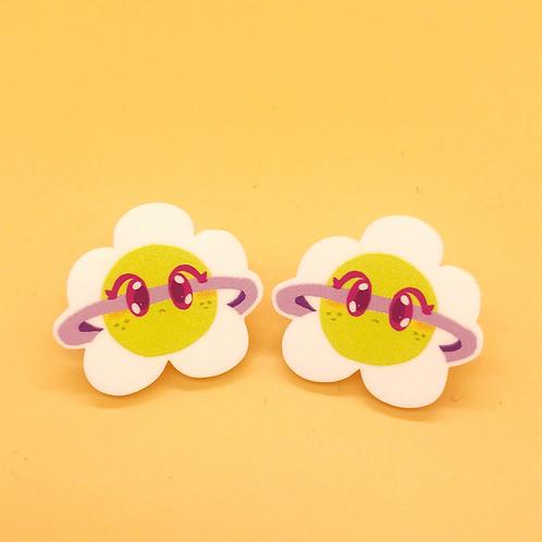 Daisy Planet Stud Earrings