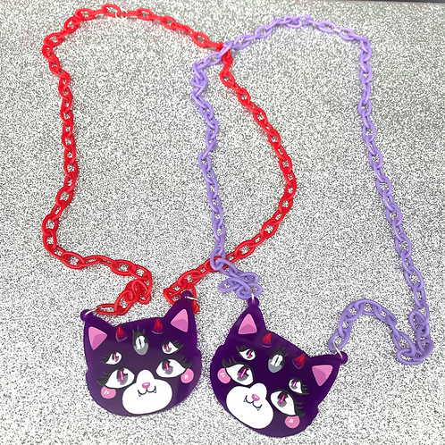 Dione the Demon Kitty Necklace