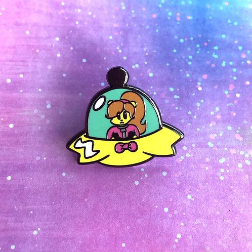 Seconds Quality May Diamond UFO Enamel Pin