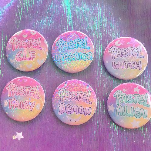 Pastel Witch / Warrior / Elf / Fairy / Demon / Alien Badges