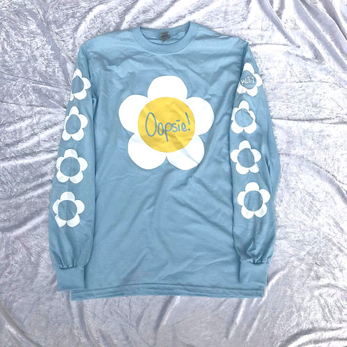 Oopsie Daisy! Long Sleeve Tee Blue