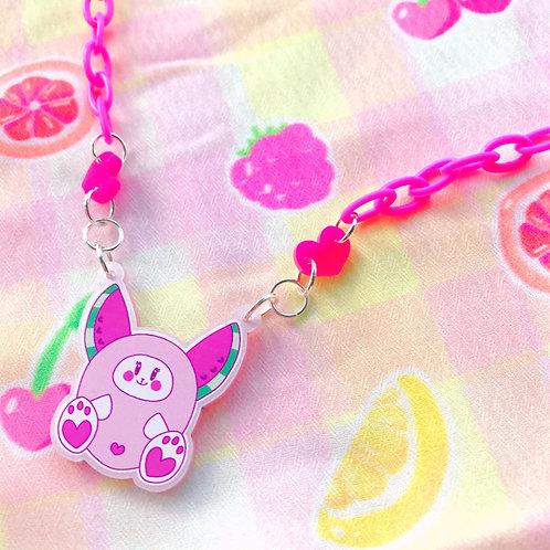 Watermelon Bunny Necklace