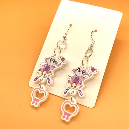Magical Ringlet Acrylic Hook Earrings