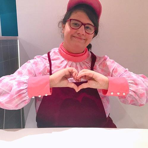 Strawbaby Love Pink Chiffon Tee