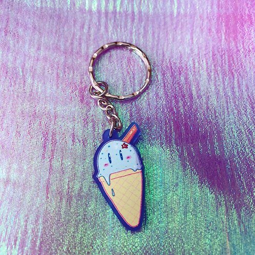 Mint Choc 'Chip' Ice Cream 1.5 Inch Keyring