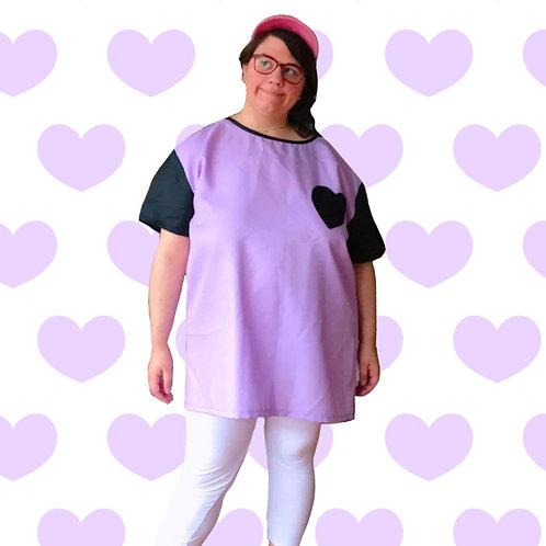 Heart Pocket Tee Purple