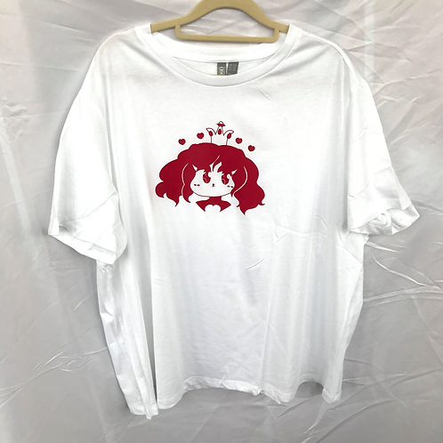 Queen of Hearts White/Red Size XXL
