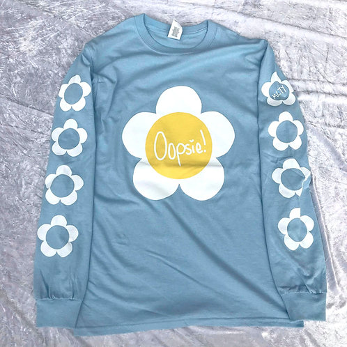 Oopsie Daisy! Long Sleeve Tee Blue (V2)
