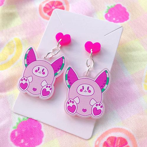 Watermelon Bunny Earrings