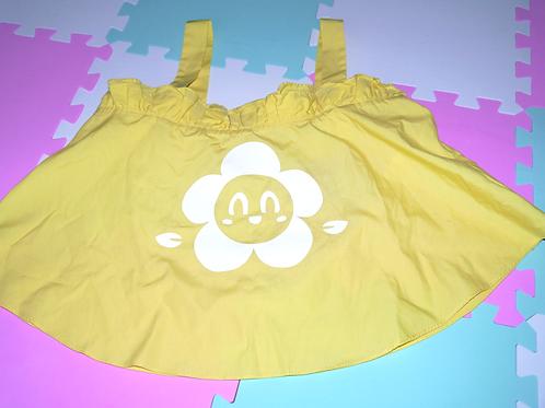 Yellow Crop Cami Tee UK Ladies size S
